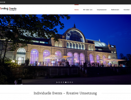 Homepage – Smiling Events