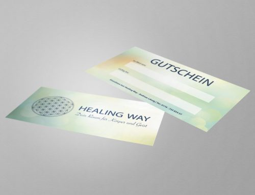 Gutscheindesign – Healing Way